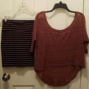 Decree Crochet Top/Skirt Set